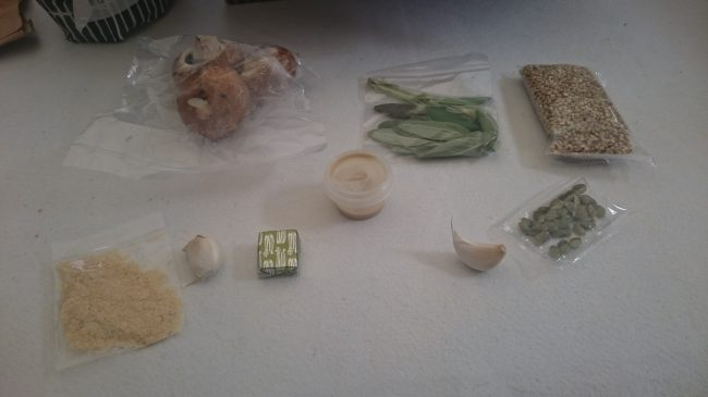 Contents of risotto bag